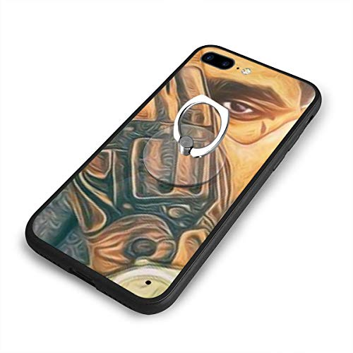 Kevin Gates iPhone 7/8 Plus Ultra-Thin Case Fashion Design,with Ring Bracket,Anti-Scratch Shock Absorption Cover Case,360¡ã Adjustable Ring Grip,Holder for iPhone 7/8 Plus 5.5 Inches
