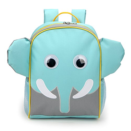 Yodo Little Kids School Bag Pre-K Toddler Backpack - Name Tag and Chest Strap, Elephant -
