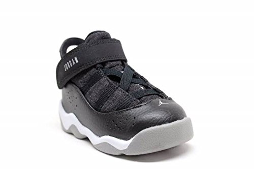 Bambino Jordan 6 Anelli Bt Nero / Argento-bianco Opaco