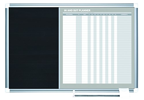 MasterVision In-Out Planning Board Magnetic Dry Erase/Letter Board, 24'' x 36'', Aluminum Frame by MasterVision