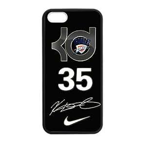 CTSLR Laser Technology Kevin Durant TPU Case Cover Skin for Apple iPhone 5/5s- 1 Pack - Black - 1