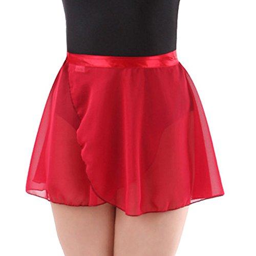 Wuchieal lady's Sheer Wrap Skirt Ballet Skirt Ballet Dance Dancewear