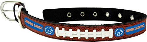 GameWear CFB Boise State Broncos Classic Leather Toy Football Collar, One Size, Black