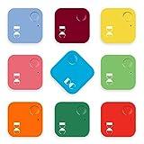 Dangchu 2pcs Smart Finder Bluetooth Locator Square Pet Tracker Alarm Wireless Anti-lost Tag Remote Selfie Shutter Seeker for Kids Bag Wallet Keys Car Smart Phone Random color
