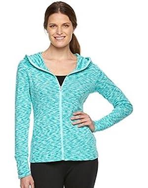 Women Wildwood Forest Full Zip Hoodie Space Dye Jacket XS Ocean Water