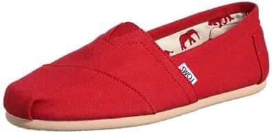Toms Classics Men US 14 Red Loafer