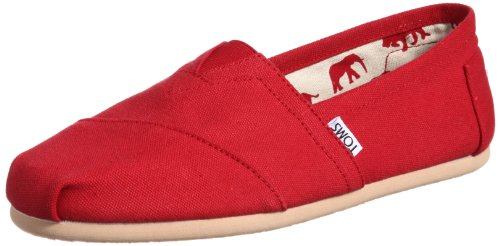 - TOMS Men's Classic Canvas Slip On Red 14 D(M) US