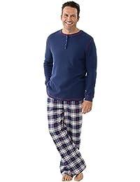 Mens Pajamas Set Plaid - Mens Flannel Pajama Set