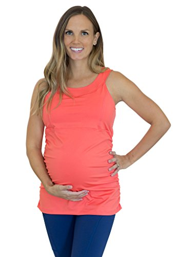 Mumberry Maternity Activewear Boost Workout Tank with Belly Band Support