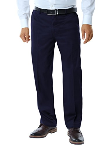 Match Men's Straight-Fit Casual Pants M3(34W x 34L, 8035 Blue) - Men Formal Pants