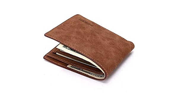 The Good Men/'s Leather Trifold Credit Cards Holder Coin Pocket Wallet #GGTY