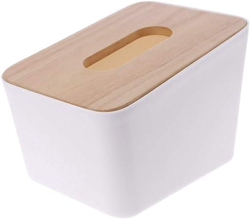 Hothap Servilletero de madera vintage plástico caja dispensador de servilletas para el hogar Office Sencillo y elegante. Wie gezeigt blanco: Amazon.es: Hogar