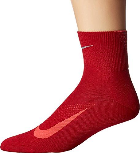 (Nike Elite Lightweight 2.0 Quarter Running Socks (Men's 8-9.5, Women's 10-11.5, Gym Red (687) / Bright Crimson))