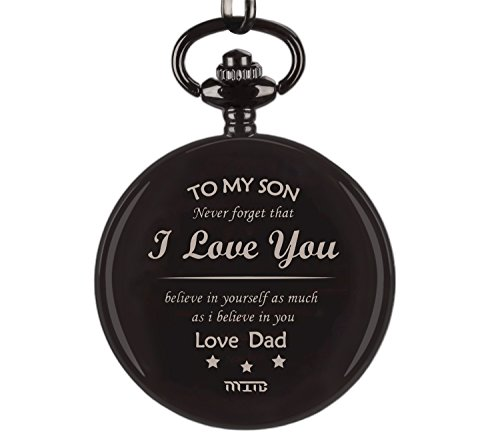 """Pocket Watch, To My Son Pocket Watch From Dad, Dad Son Pocket Watch, """" To My Son - Love Dad"""" Gift To Son From Dad Birthday Gift, Xmas Gift Pocket Watch For Son"""