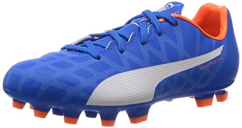 Puma Unisex Kids' evoSPEED 5.4 AG Jr Football boots (training), Orange - Orange (lava blast-white-total eclipse 01), 1 UK