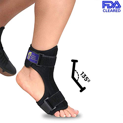 Everyday Medical Plantar Fasciitis Night Splint Brace for Plantar Fasciitis Pain Relief I Dorsal Foot Stretching Support best for Achilles Tendonitis, Heel Pain, Plantar Fascia, Drop Foot -Men & Women ()