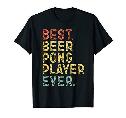 Best Beer Pong Player Ever Vintage Retro Gift T-Shirt