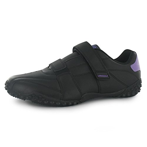 Lonsdale Fulham Trainers Womens Black/Lavender Casual Fashion Sneakers Shoes WvQCNrPuu