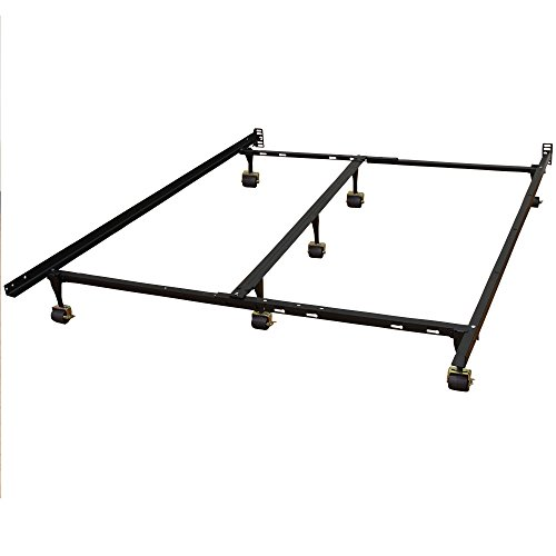 Classic Brands Hercules Universal Heavy-Duty Metal Bed Frame | Adjustable Width Fits Twin, Twin XL, Full, Queen, King, California (Full Size King Size Footboard)