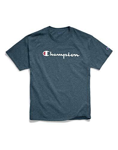 Champion Classic Graphic Logo Jersey T-Shirt (GT23H) L/Jetson Blue Heather