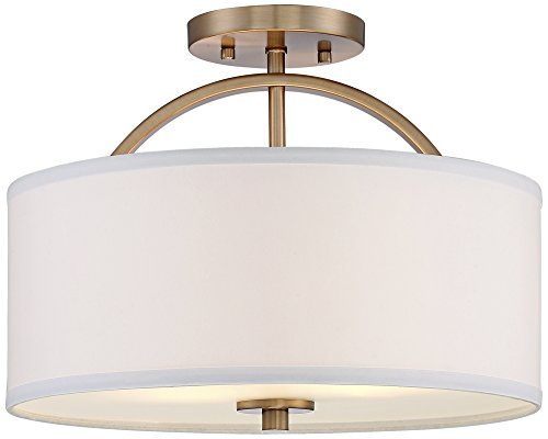 Halsted Warm Brass Semi-Flush 15