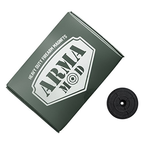 Arma-Mod Heavy Duty Firearm Magnets | Large Diameter | Extra Pull Force Neodymium | Non-Abrasive | Strong 3M Backing | Low Profile Gun Mount Magnet | Concealed For Home & Vehicle | USA Company