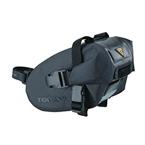 Topeak Wedge Drybag with Strap Mount (Black, 5.9x3.5x3.5-Inch, Small)
