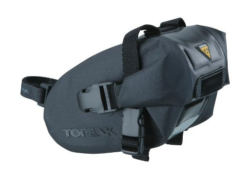- Topeak Wedge Drybag with Strap Mount (Black, 6.9x4.3x4.5-Inch, Medium)