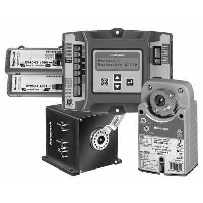 Economizer Logic Module - Honeywell Economizer Logic module, sensors and actuators - Black and White - C7250A1001/U Economizer-1