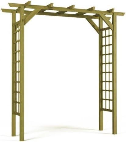 Rosenbogen Rankhilfe Blumenkübel Torbogen Natur Spalier Rankgitter Holz Pergola