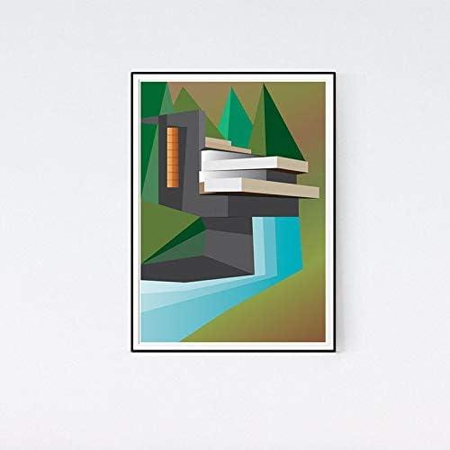 Art print POSTER Canvas Frank Lloyd Wright American Architect