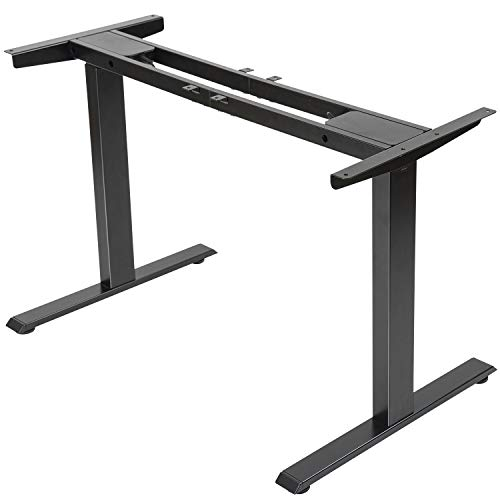 Electric-Stand-up-Desk-Frame-FEZIBO-Dual-Motor-and-Cable-Management-Rack-Height-Adjustable-Sit-Stand-Standing-Desk-Base-Workstation-Frame-Only