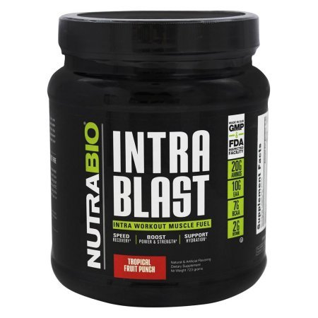 NutraBio Intra Blast Intra Workout Muscle Fuel- Tropical Fruit Punch (723g)