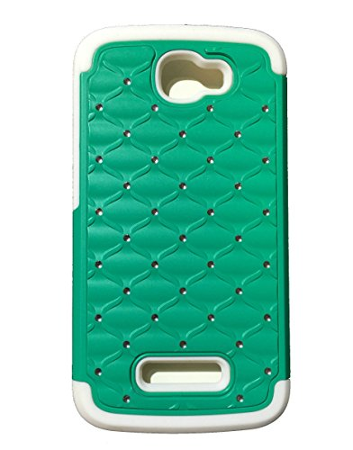 teal-green-white-alcatel-one-touch-fierce-2-7040t-pop-icon-a564c-diamond-stud-bling-lattice-gemstone