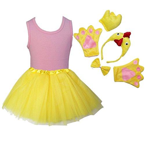 Kirei Sui Kids Costume Tutu Set 120 Pink Chick -