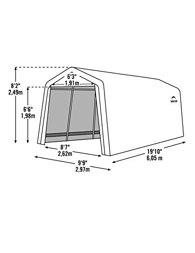 ShelterLogic Model 62680 Instant Garage AutoShelter 10 x 20- Feet ,Color Sandstone