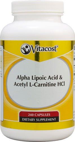 Vitacost Alpha Lipoic Acid & Acetyl L-Carnitine HCl -- 700 mg - 240 Capsules - 2PC