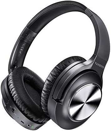 Active Noise Cancelling Headphones VANKYO C750 Wireless Bluetooth Headphones Over Ear Headset with CVC 8.0 Mic Hi-Fi Sound, Deep Bass, 30H Playtime, Protein Earpad for Travel, Work, Online Class-Black