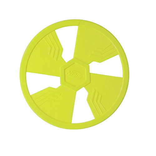 Nerf Dog TPR Float Flyer Flying Disc Dog Toy, Large, Green