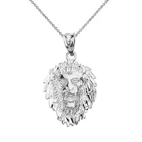(Leo Zodiac Sign Roaring Lion Head Pendant Necklace (22