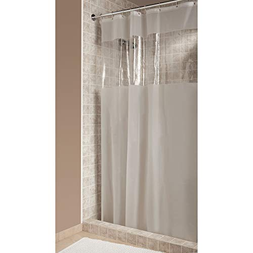 iDesign Hitchcock EVA Plastic Shower Liner Mold and Mildew Resistant for use Alone or With Fabric Curtain for Master, Guest, Kid's Bathroom, Standard, Frost