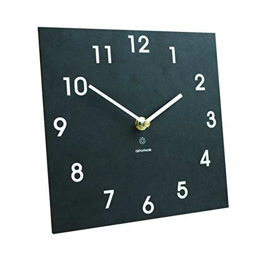 Bosmere W425 Eco Indoor/Outdoor Recycled Wall Clock, Black