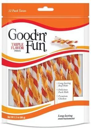 Healthy Hides Good N Fun 12ct Twist Sticks 2 Pack Bundle