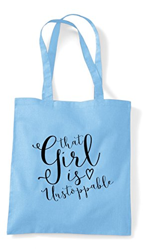 Bag Unstoppable Shopper Powerful Sky Girl Statement Tote That Blue Is wYv16P