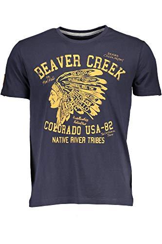 Blu Fred T Corte shirt Maniche Fm18w07tg Blue Mello Uomo 7r6q7R0n
