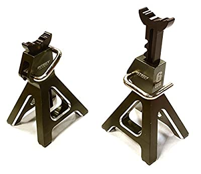 Integy Hobby RC Model C26409GUN Realistic Model 6 Ton Jack Stands (2) for 1/10, 1/8 Scale & Rock Crawler