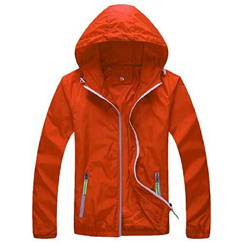 Donne Zip All'aperto Con Outwear Cappotto end Delle Arancione Mogogo Cappuccio Week Oversize Intascato qxn8tZ4AIw