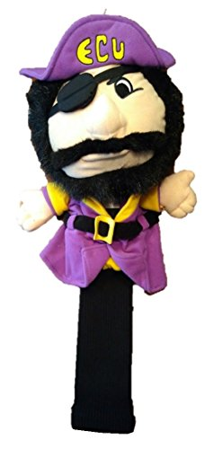 College Licensed Golf Mascot Headcover - ECU Carolina College Mascot Headcover