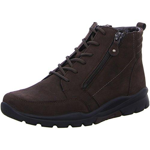 Waldläufer Marron 345802 Pour 038 114 Bateau Foncé Haruka Chaussures Femme 4Sq48rR