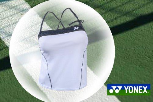NUEVO Yonex Camiseta para mujer Polo Very Cool en color blanco